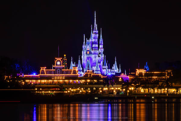 Magic Kingdom Christmas   Disney Wall Mural Photography Art | William Drew Photography