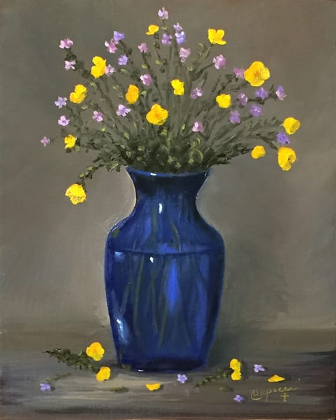 Buttercups And Forget Me Nots Art | Mid-AtlanticArtists.com