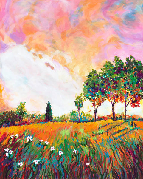 A Colorful Summer Countryside Art | Charles Wallis
