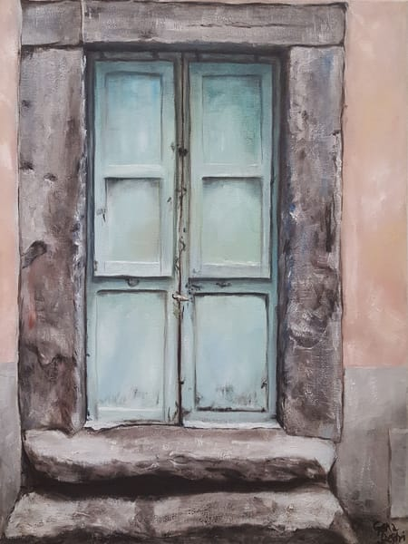 Italian Door Viterbo Painting