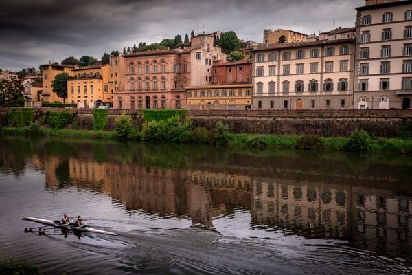 Sculling The Arno Photography Art | Harry John Kerker Photo Artist