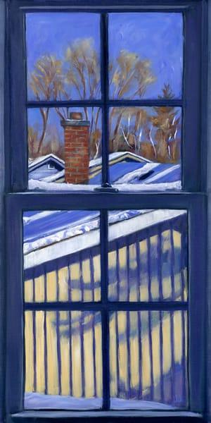 Bluebird Winter Day - Studio View on a bright sunny day