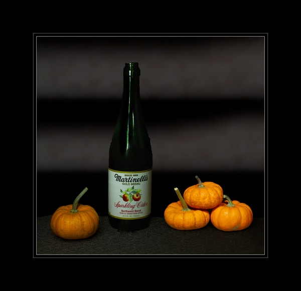Fine Art Photograph of Pumpkins and Martinelli by Michael Pucciarelli