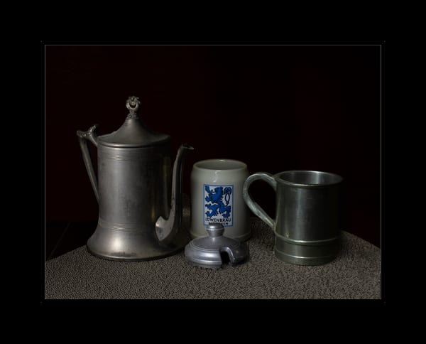 Fine Art Photograph of Old Tea Kettles by Michael Pucciarelli