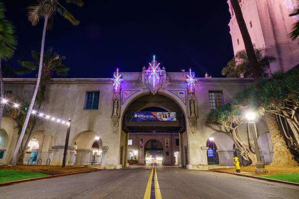 Balboa Park, San Diego Christmas Tunnel Fine Art Print Art | McClean Photography