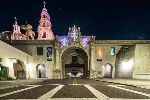 Balboa Park, San Diego Entrance At Christmas Fine Art Print Art | McClean Photography