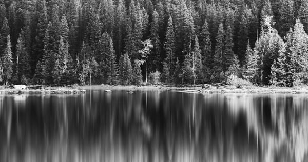 Lake Wenatchee Monochrome Reflections Photography Art | Austin Marvel