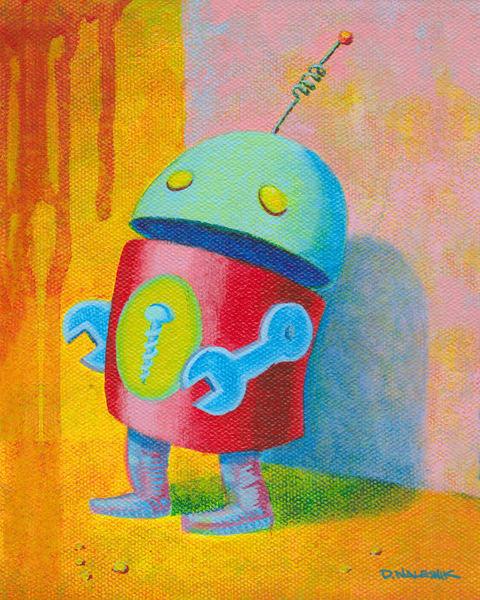 Sad Robot Art | Davenik Art