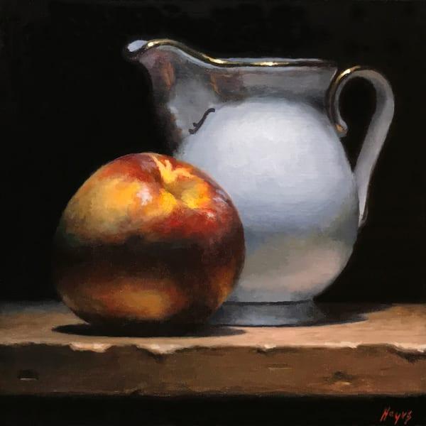 Nectarine And Creamer Art | Jeff Hayes Fine Arts