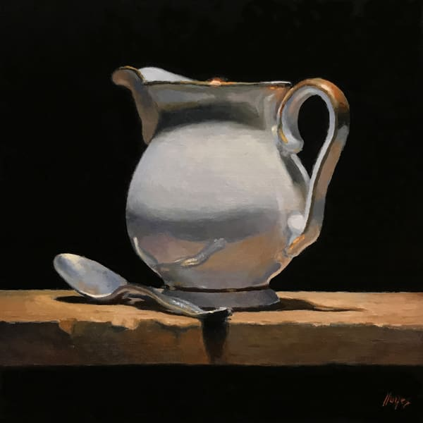 Silver Spoon And Creamer Art | Jeff Hayes Fine Arts