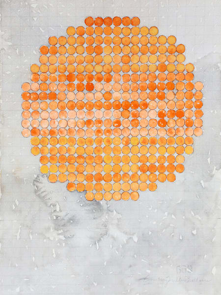 Circle Circle, Orange, Three Parts Art | Courtney Miller Bellairs Artist