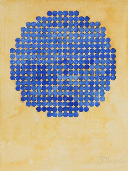 Circle Circle, Blue Dot Art   Courtney Miller Bellairs Artist