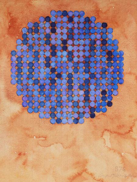 Circle Circle, Blue Art   Courtney Miller Bellairs Artist