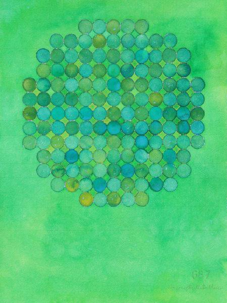 Circle Circle, Green On Green Ii Art   Courtney Miller Bellairs Artist
