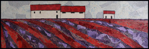 Lavender Fields by Sharon TEsser - fiber artist