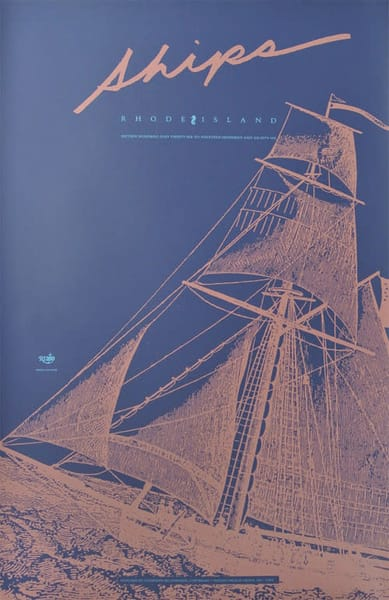 RI Poster Tall Ships Screen Print