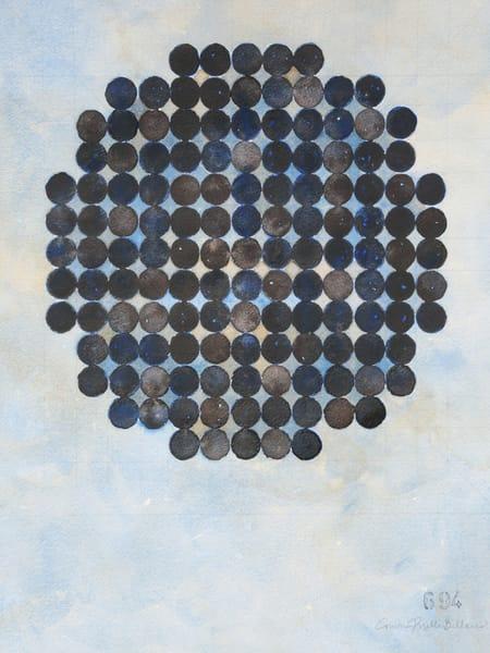 Circle Circle, Warm Black On Cool Gray Art   Courtney Miller Bellairs Artist