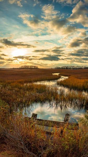 Winding Sunrise Vert Photography Art | Teaga Photo