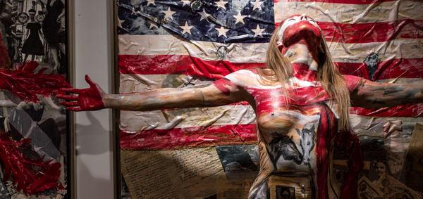 2014   American Flag   Leonor   Florida Art | BODYPAINTOGRAPHY