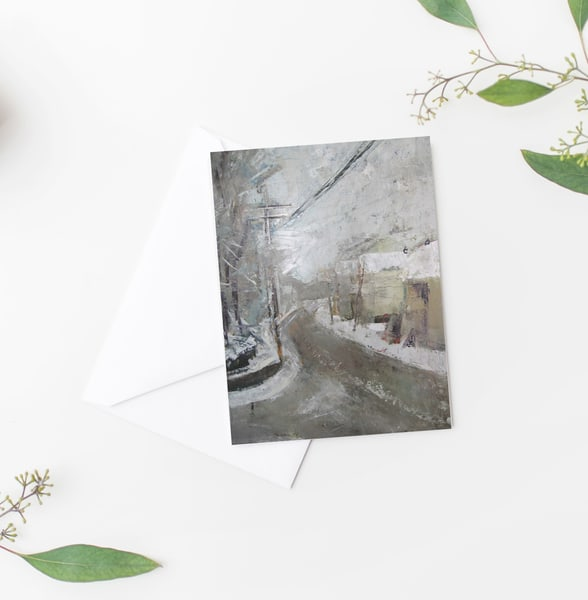 Snowy Day Notecards Set Of 10 | Michelle Arnold Paine Fine Art