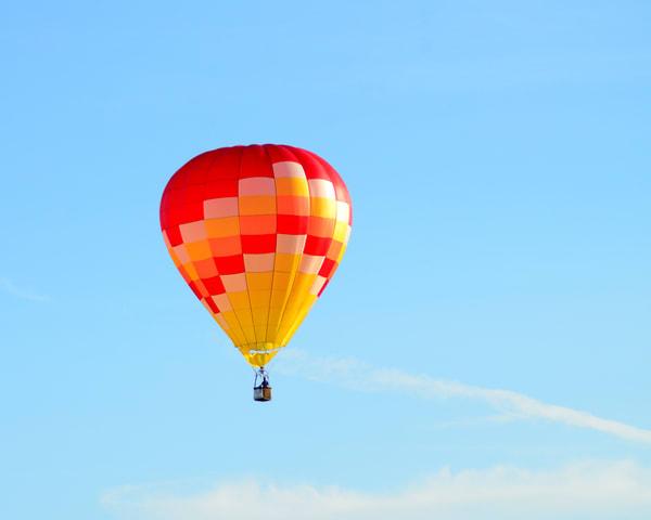 Yellow Orange Wave Hot Air Balloon Art   Bellz Artistry