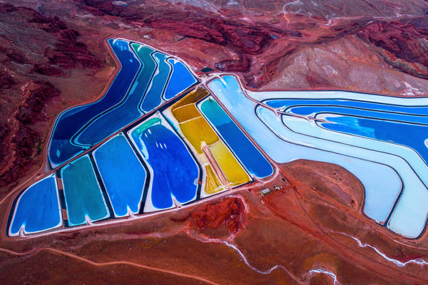 Salt ponds in Moab, Utah.