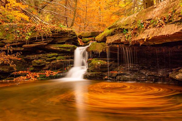 Pennsylvania Waterfall during Fall