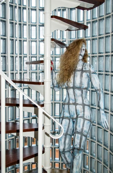 2015  Glass Brick Staircase  United Kingdom Art | BODYPAINTOGRAPHY