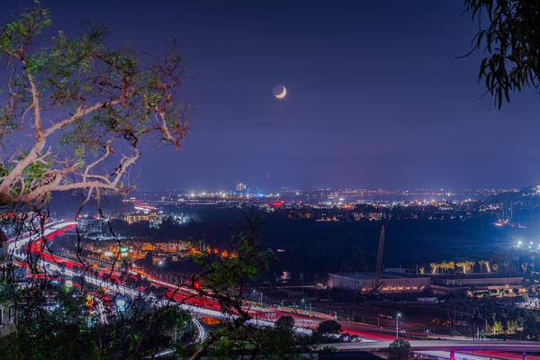 (Original) University Heights, San Diego Lunar Eclipse Original Metal Wall Art by McClean Photography