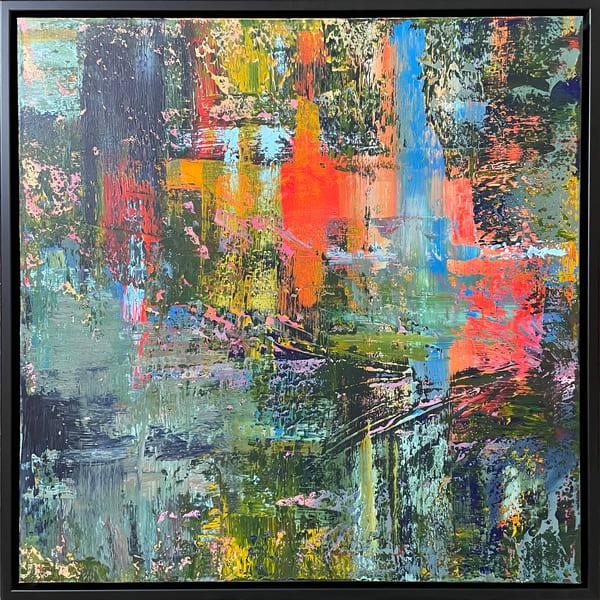 City Lights In The Rain (Original) Art | Jen Sterling LLC
