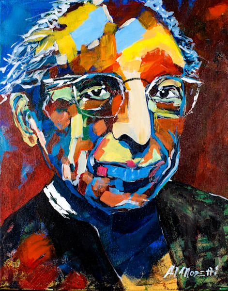 Aaron Copland painting and print