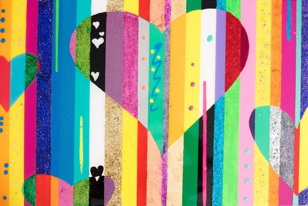 Hearts Collide Art | Courtney Einhorn