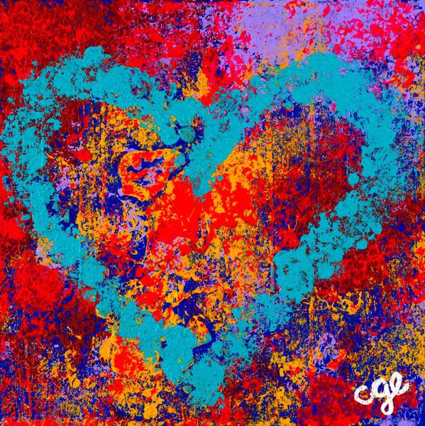 Aqua Heart Art | Courtney Einhorn