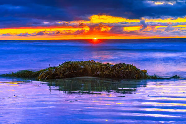 La Jolla Beach Majestic Sunset Fine Art Print by McClean Photography
