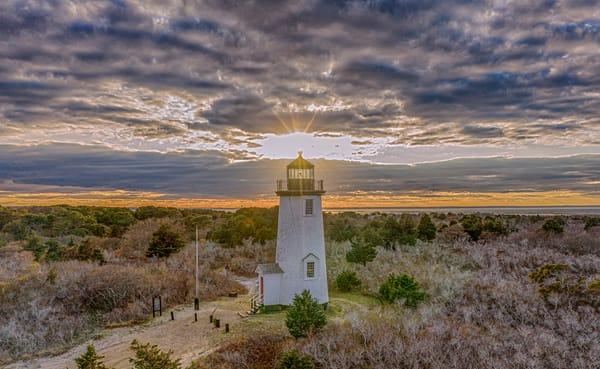 Cape Poge Light Sunset Clouds Art   Michael Blanchard Inspirational Photography - Crossroads Gallery