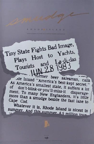 Rhode Island Smudge Poster