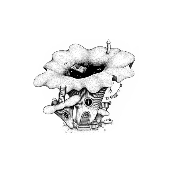 Chanterelle Cottage Art | Cool Art House - online art gallery with hip emerging artists. Collect cool art you can view on your own wall before you invest!