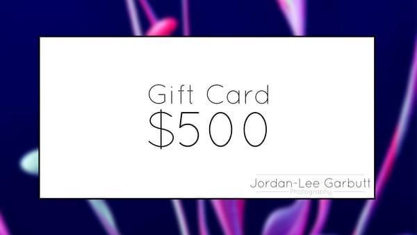 $500 Gift Card | Jordan-Lee Garbutt