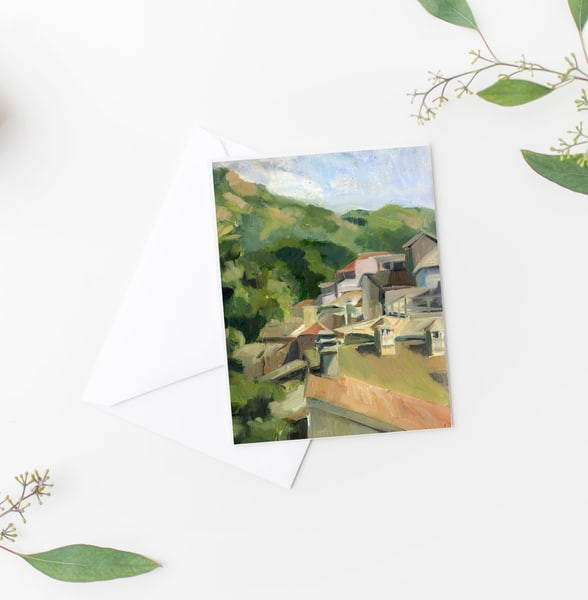 Italy Rooftops Notecards Art | Michelle Arnold Paine Fine Art