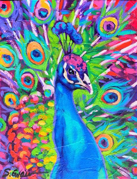 Neon Peacock