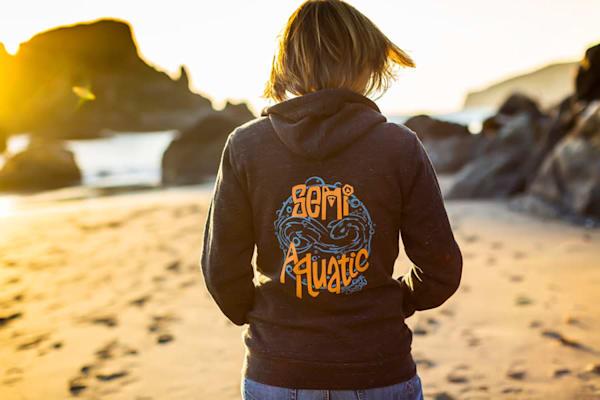 Semi Aquatic Infinity Logo unisex ZIP hoodie by Spencer Reynolds