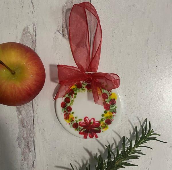 Wreath Porcelain Ornament Art | Kristine Kainer