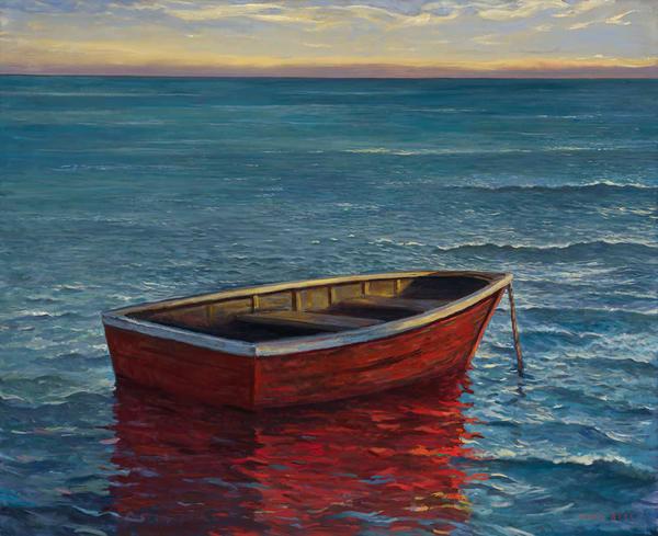 Red Boat Art   Mark Beck Fine Art