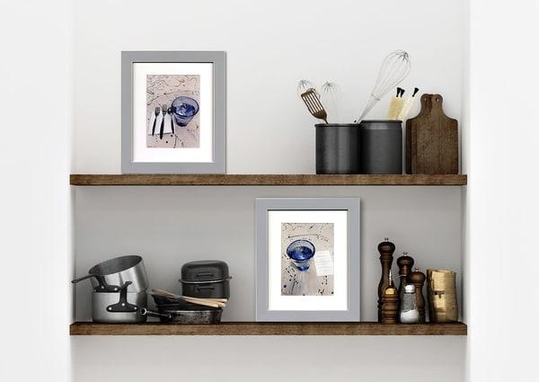 Artist Setting & Menu Of Blue Art | Machalarts Watercolor Studio