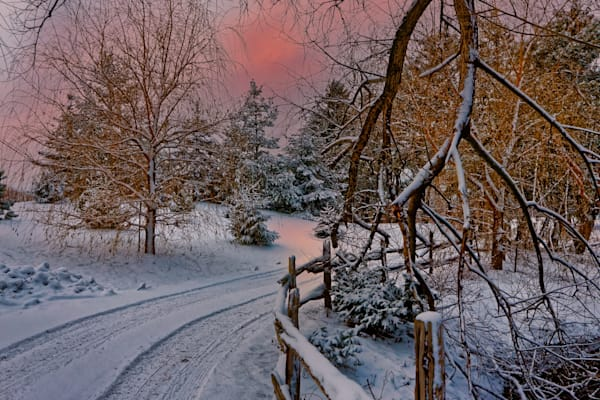 Niagara Winter Sunset Photography Art | FocusPro Services, Inc.