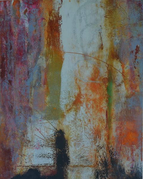 arches, oil paper, colorful, abstract, cold wax, beeswax, 3101