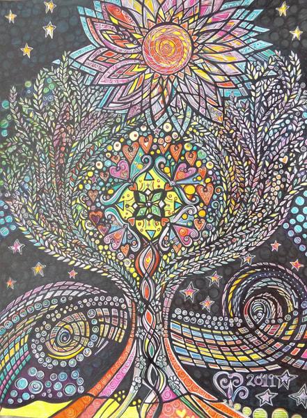 Night Tree Art   Cynthia Christensen Art