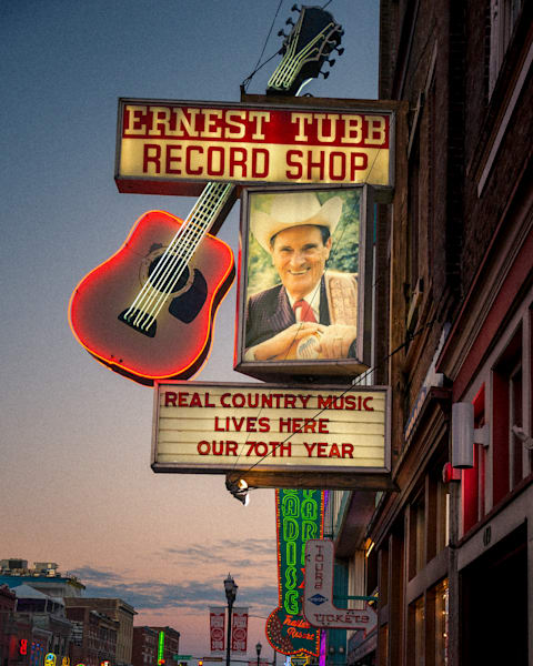 Ernest Tubb Record Shop Art | Anna Jaap Studio