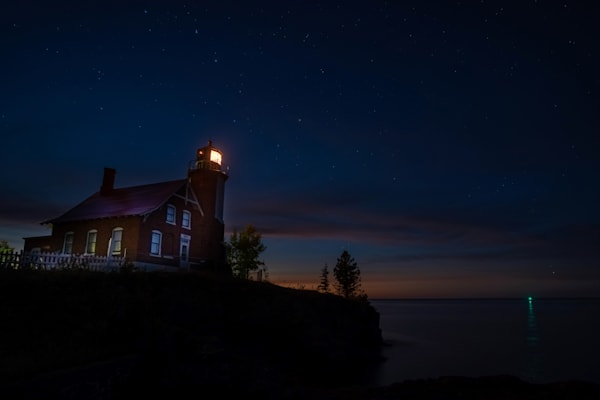 Eagle Harbor And The Night Sky Photography Art | William Drew Photography