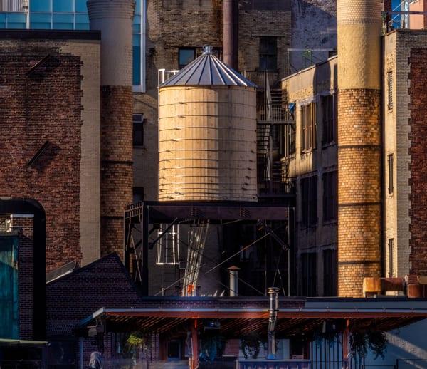 Golden Water Tower, Nyc Photography Art | Ben Asen Photography